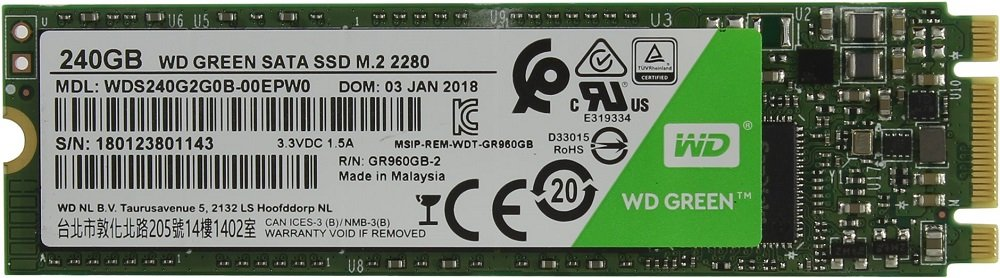 Жесткий диск SSD Western Digital Green (WDS240G2G0B) 240Gb фото