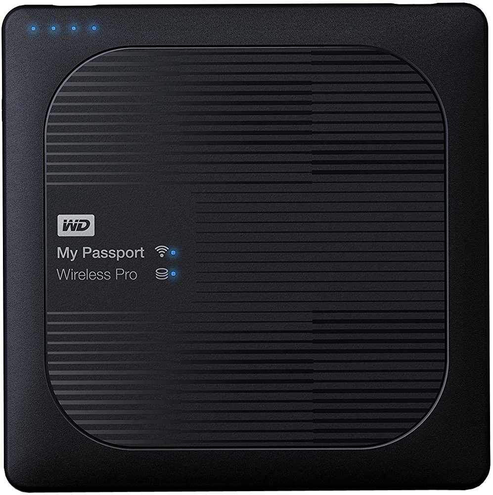 Внешний жесткий диск Western Digital My Passport Wireless Pro (WDBP2P0020BBK) 2000 Gb