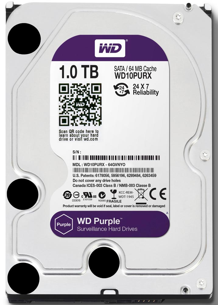 Жесткий диск Western Digital Purple (WD10PURX) 1000 Gb