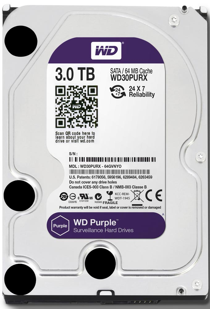 Жесткий диск Western Digital Purple (WD30PURX) 3000 Gb фото