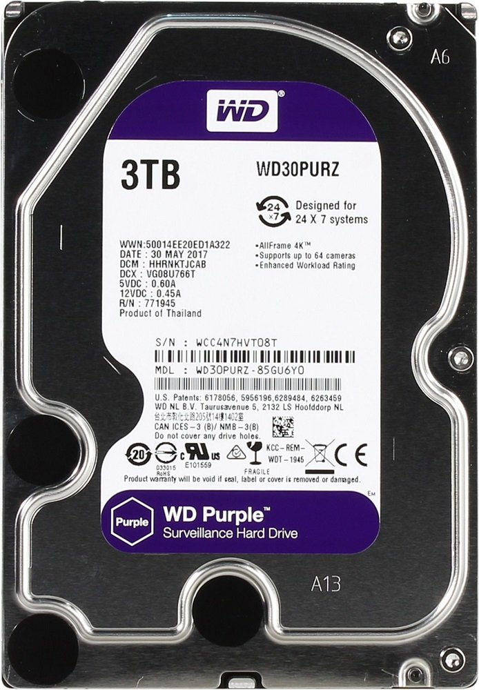 Жесткий диск Western Digital Purple (WD30PURZ) 3000 Gb
