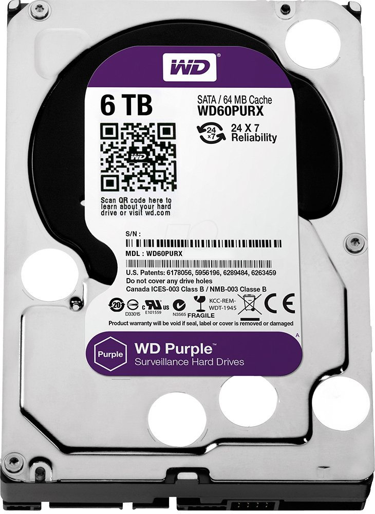 Жесткий диск Western Digital Purple (WD60PURX) 6000 Gb