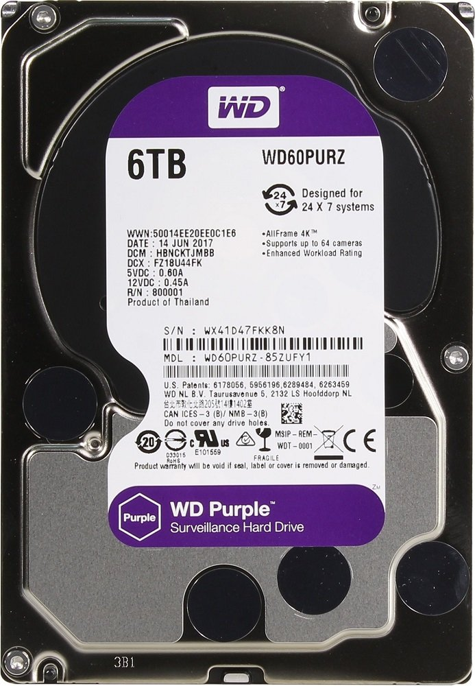 Жесткий диск Western Digital Purple (WD60PURZ) 6000 Gb