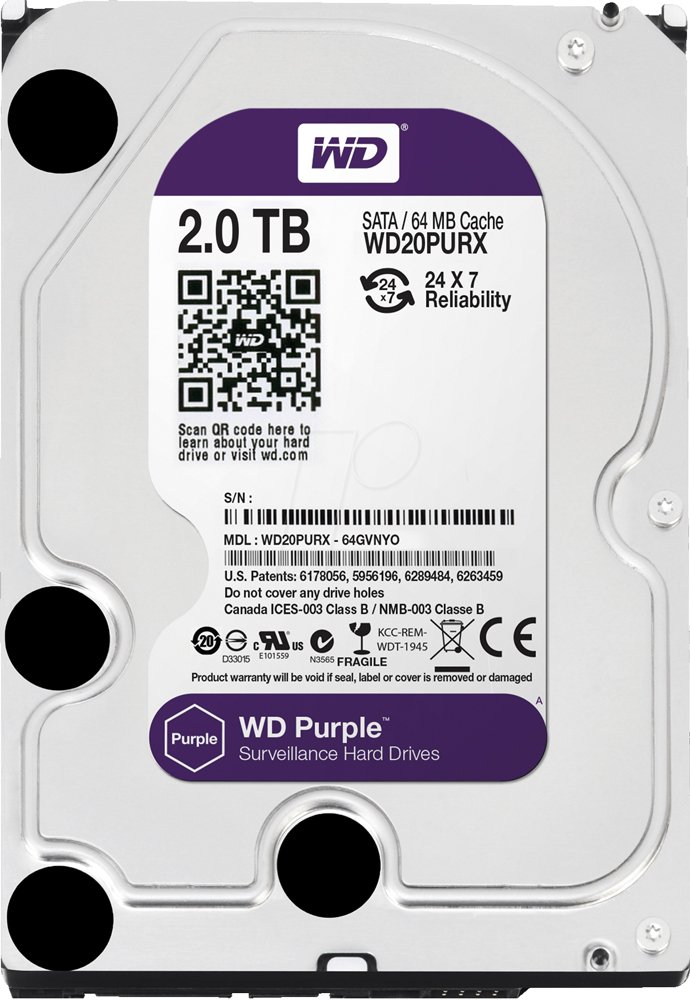 Жесткий диск Western Digital Purple (WD20PURX) 2000 Gb