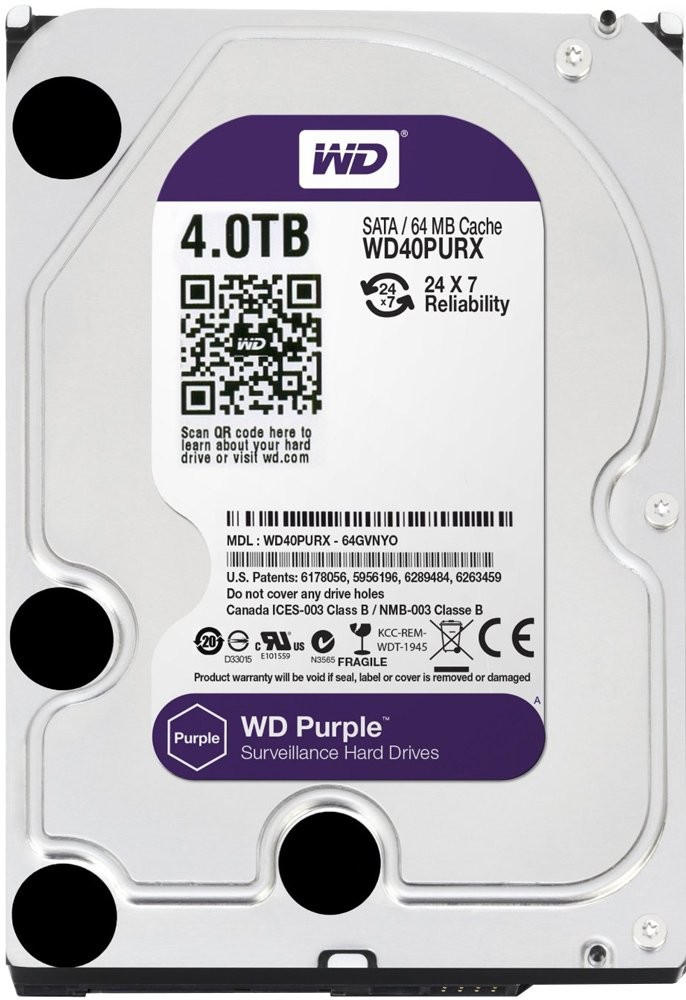 Жесткий диск Western Digital Purple (WD40PURX) 4000 Gb