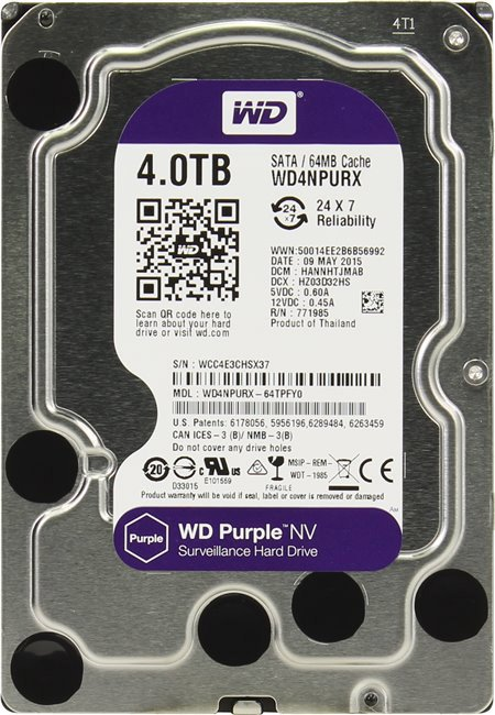 Жесткий диск Western Digital Purple NV (WD4NPURX) 4000Gb