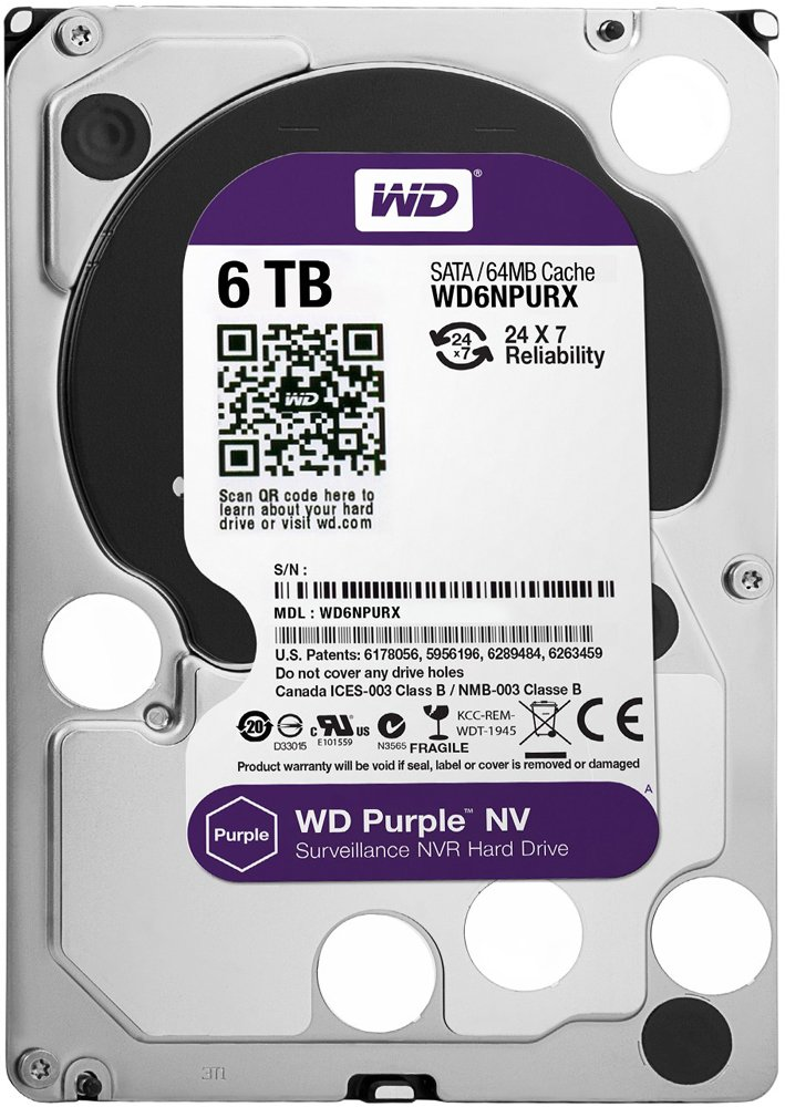 Жесткий диск Western Digital Purple NV (WD6NPURX) 6000Gb