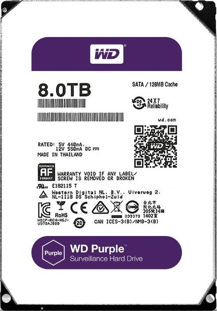 Жесткий диск Western Digital Purple (WD80PUZX) 8Tb