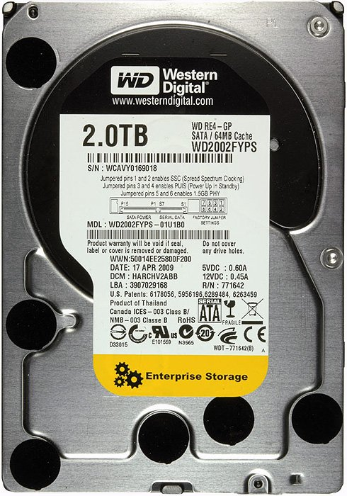 Жесткий диск Western Digital RE4-GP (WD2002FYPS) 2000 Gb