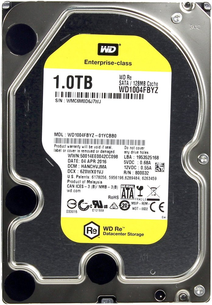 Жесткий диск Western Digital Re (WD1004FBYZ) 1000 Gb