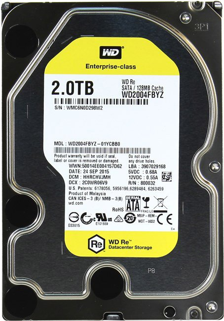 Жесткий диск Western Digital RE (WD2004FBYZ) 2Tb фото