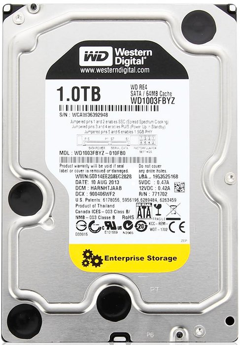 Жесткий диск Western Digital RE (WD1003FBYZ) 1000 Gb