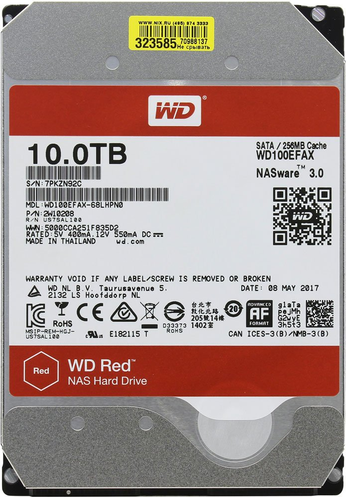 Жесткий диск Western Digital Red (WD100EFAX) 10000 Gb фото