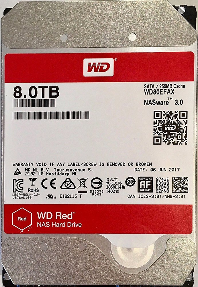 Жесткий диск Western Digital Red (WD80EFAX) 8000 Gb фото