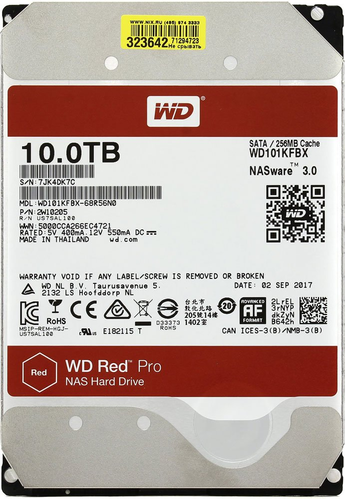 Жесткий диск Western Digital Red Pro (WD101KFBX) 10000 Gb фото