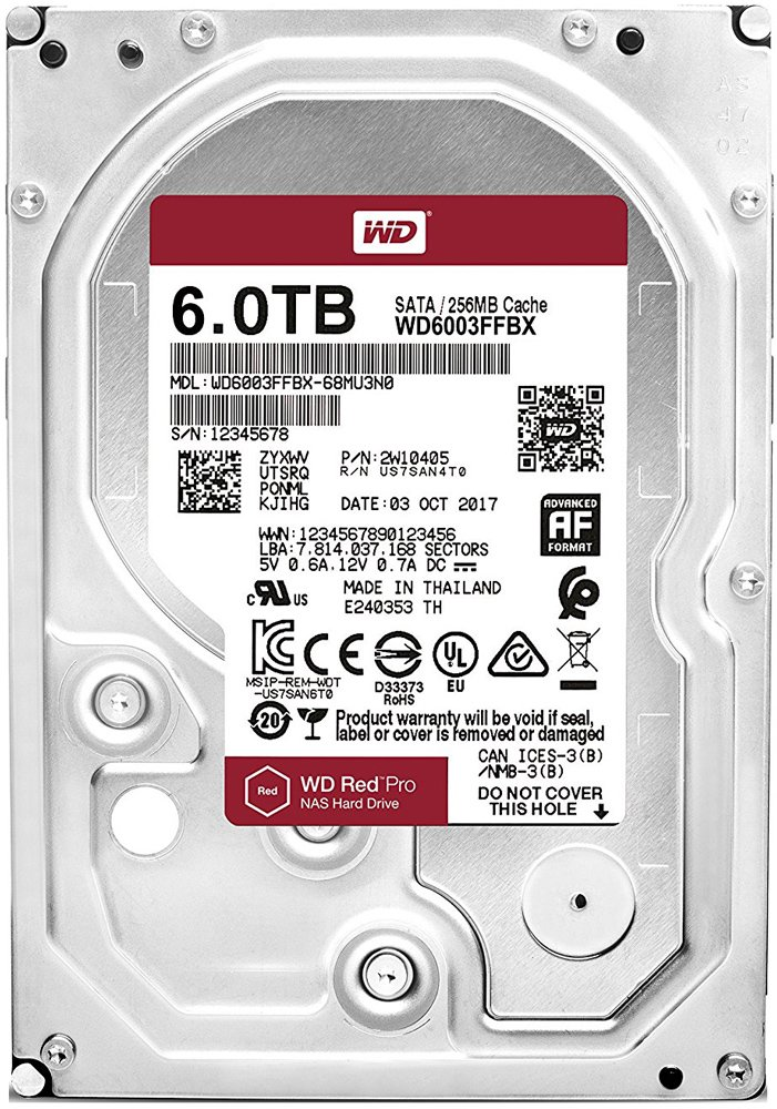 Жесткий диск Western Digital Red Pro (WD6003FFBX) 6000 Gb фото