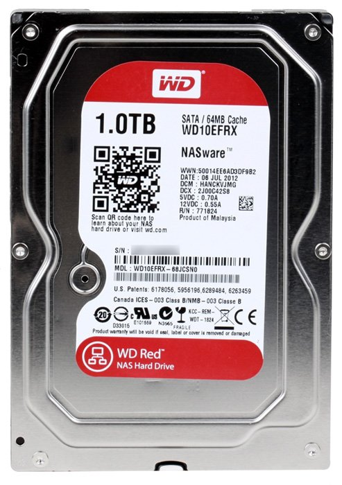 Жесткий диск Western Digital Red (WD10EFRX) 1000 Gb