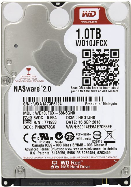 Жесткий диск Western Digital Red (WD10JFCX) 1000 Gb