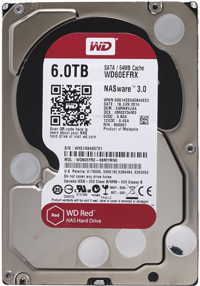 Жесткий диск Western Digital Red (WD60EFRX) 6000 Gb