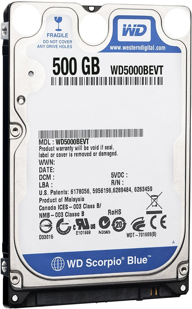 Жесткий диск Western Digital WD5000BEVT 500 Gb