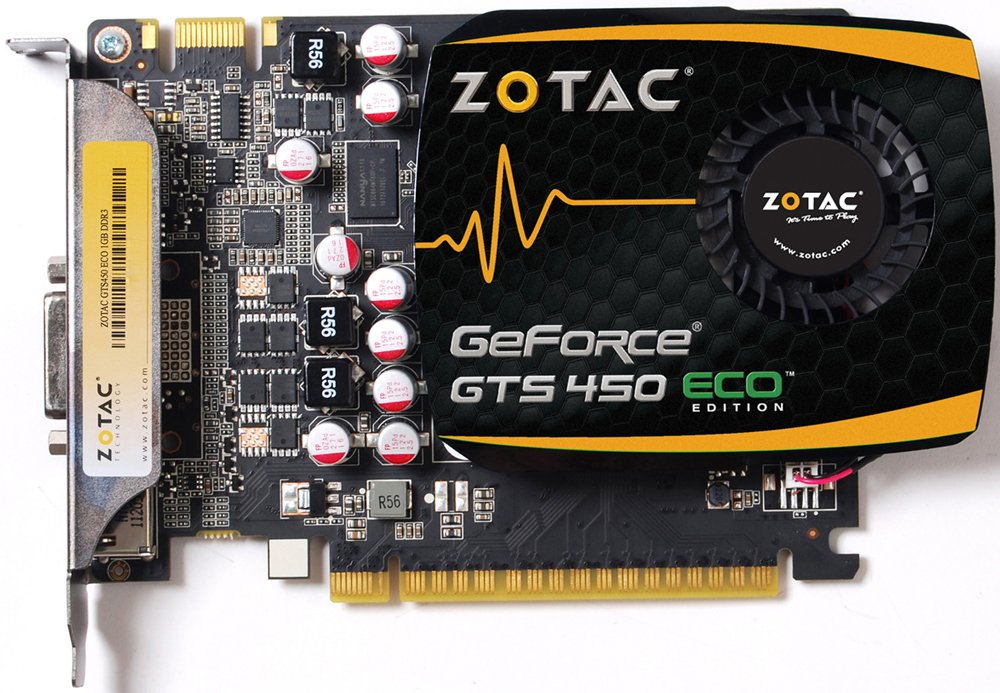 Видеокарта Zotac ZT-40509-10L GeForce GTS 450 ECO 2GB DDR3 128bit