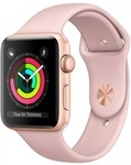 Смарт-часы Apple Watch Series 3 38mm Gold Aluminum Case with Pink Sand Sport Band (MQKW2) фото